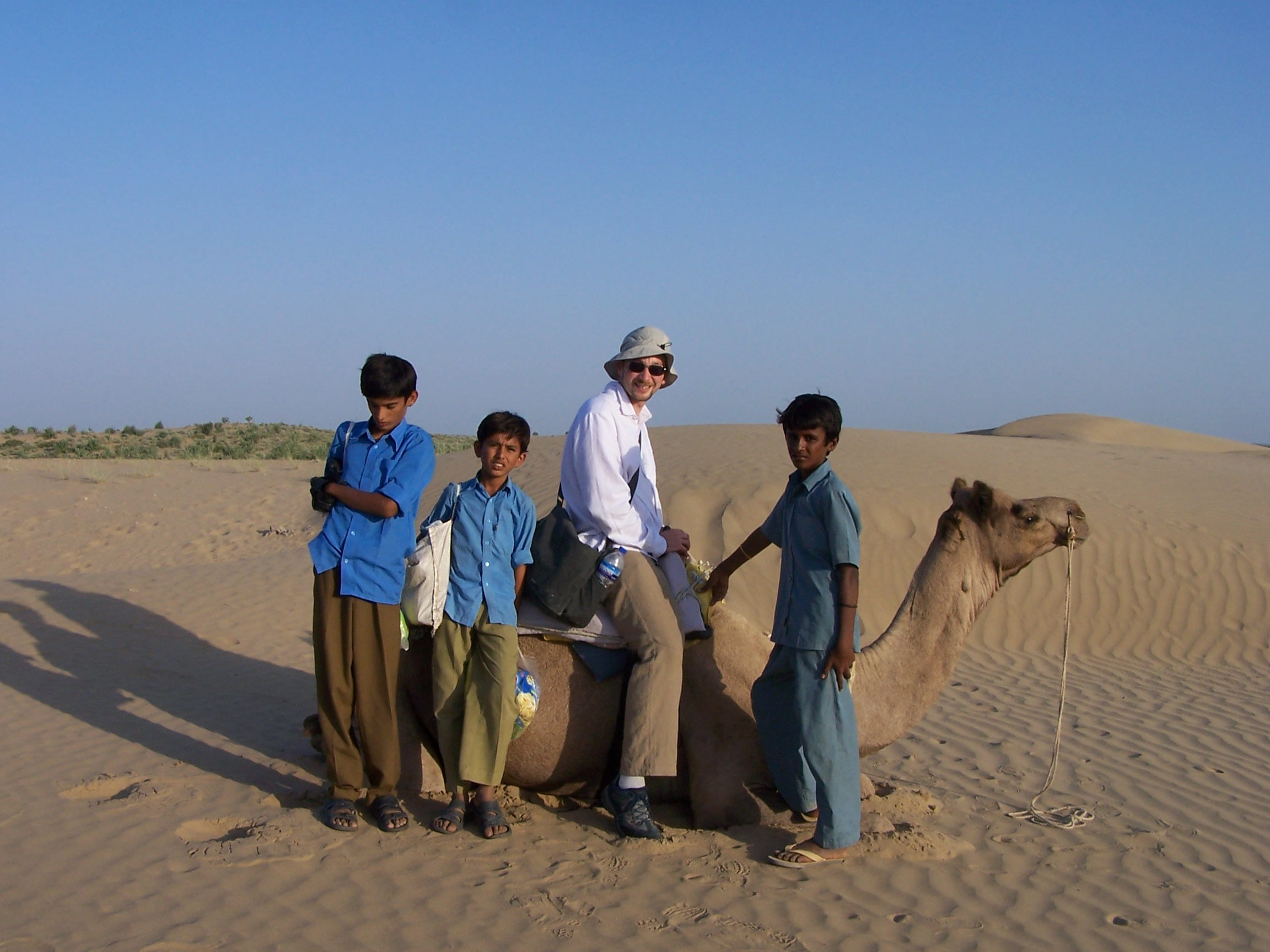 On a camel in India