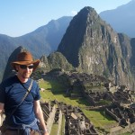 Finishing the Inca trail at Machu picchu