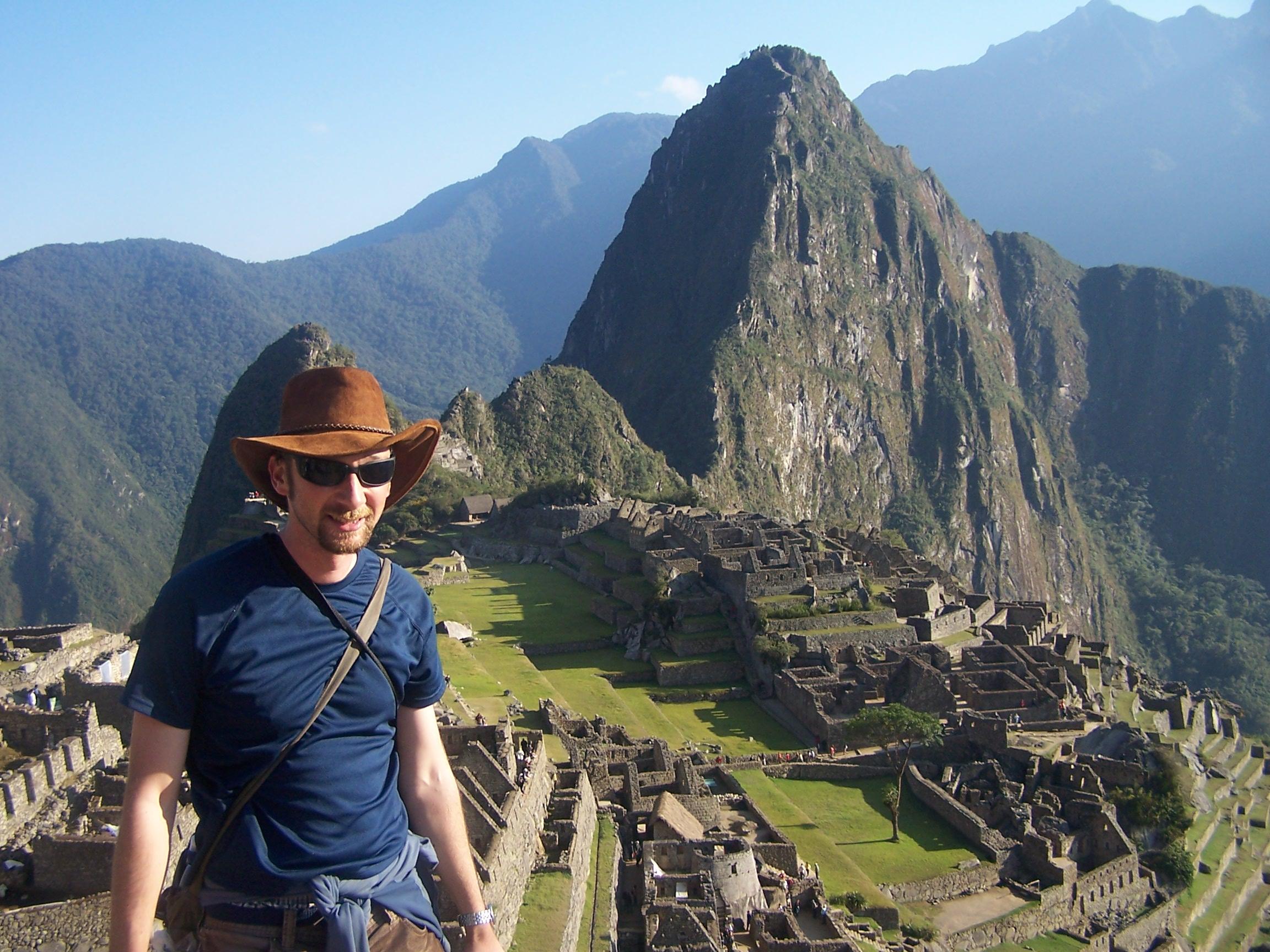 Finishing the Inca trail at Machu picchu
